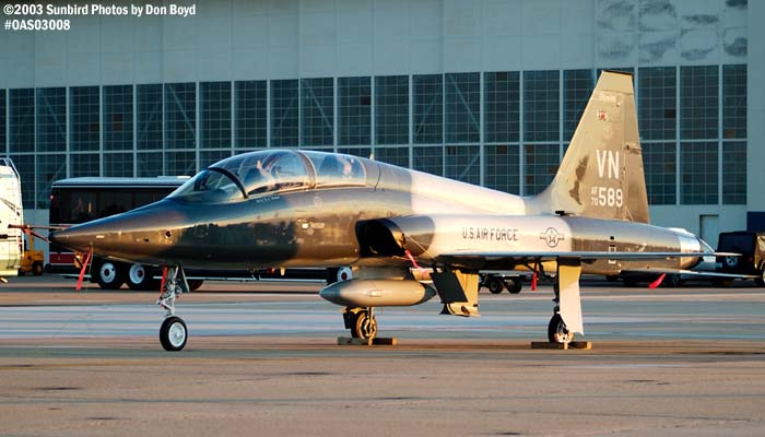 USAF T-38 AF70-589 military aviation air show stock photo #6728