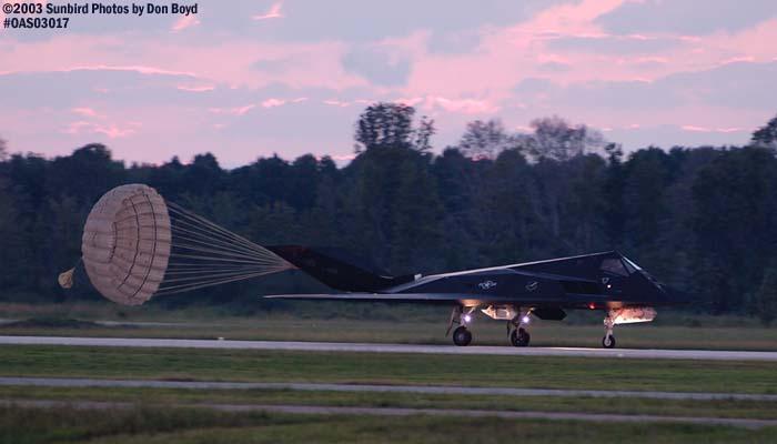 USAF F-117A Nighthawk AF84-828 military aviation air show stock photo #6750