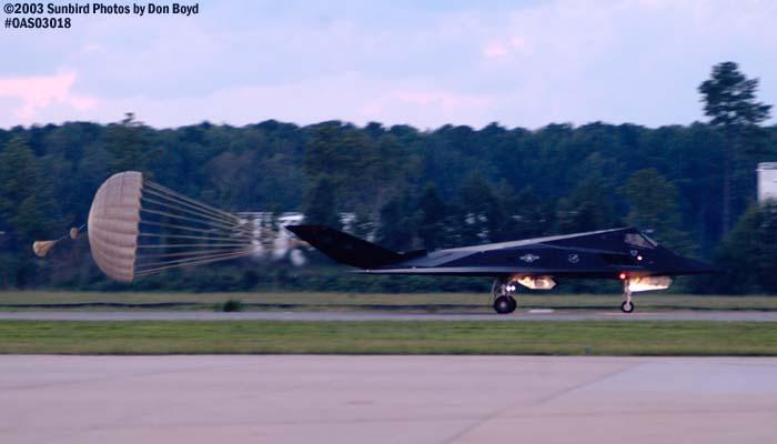 USAF F-117A Nighthawk AF84-828 military aviation air show stock photo #6751