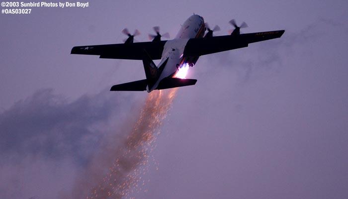 USMC Blue Angels Fat Albert (New Bert) C-130T #164763 JATO takeoff military aviation air show stock photo #6763