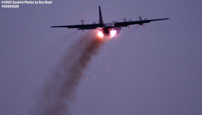 USMC Blue Angels Fat Albert (New Bert) C-130T #164763 JATO takeoff military aviation air show stock photo #6765