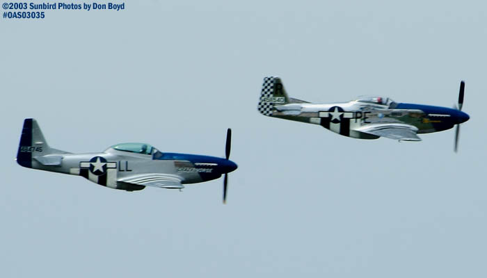 Stallion 51s Mustang Crazy Horse and Jim Reeds Mustang Excalibur military aviation air show stock photo #6809