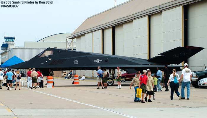 USAF F-117A Nighthawk Stealth Fighter AF80-786 military aviation air show stock photo #6811