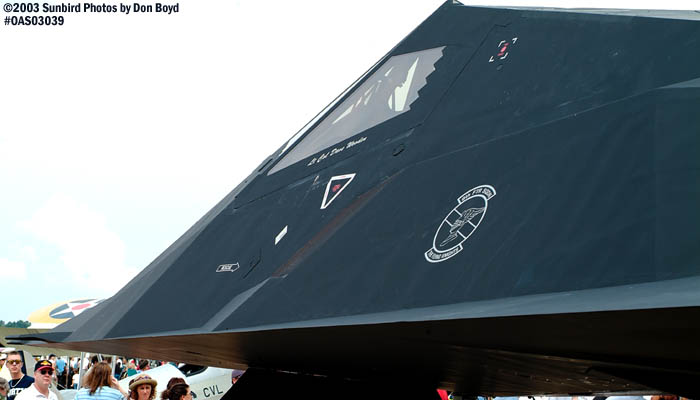 USAF F-117A Nighthawk Stealth Fighter AF80-786 military aviation air show stock photo #6816