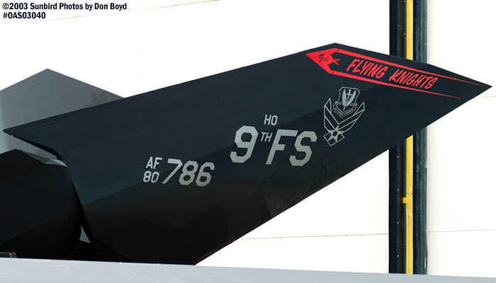 USAF F-117A Nighthawk Stealth Fighter AF80-786 military aviation air show stock photo #6817