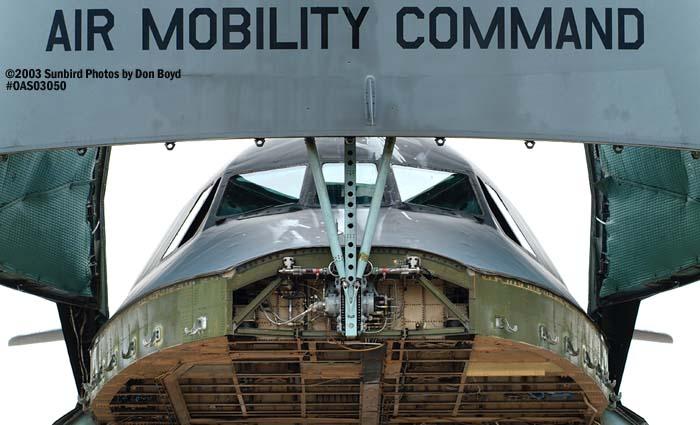 USAF C-5A #00466 military aviation air show stock photo #6827