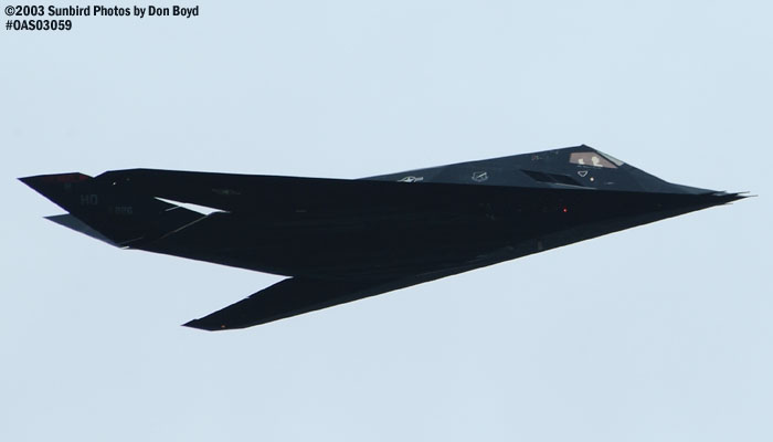 USAF F-117A Nighthawk Stealth Fighter AF84-826 military aviation air show stock photo #6859