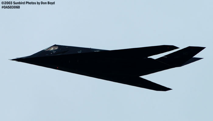 USAF F-117A Nighthawk Stealth Fighter AF84-826 military aviation air show stock photo #6860