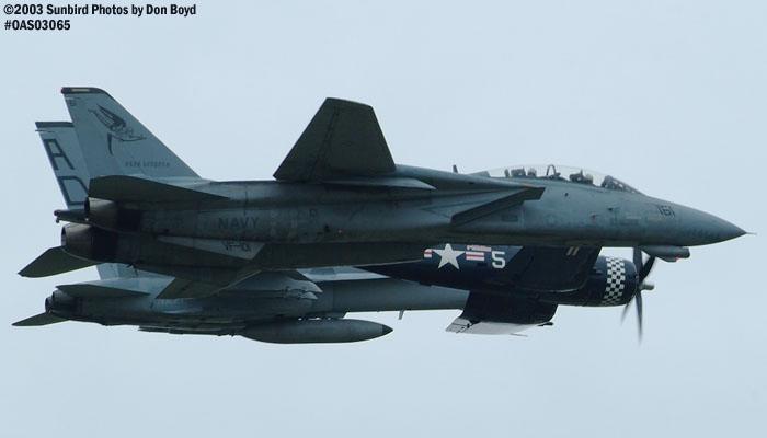 USN Legacy Flight of F/A-18, JRMC Incs F4U-5 Corsair N179PT, and F-14D Tomcat military aviation air show stock photo #6878