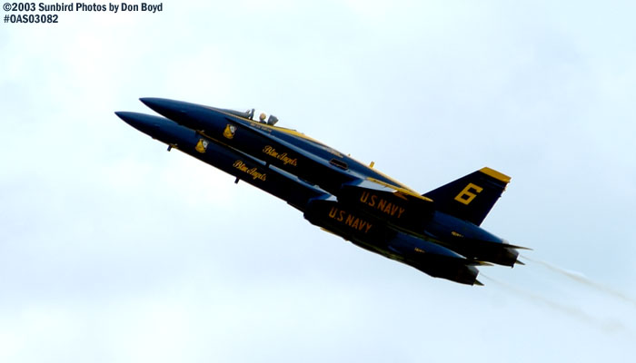 USN Blue Angels F/A-18 Hornets military aviation air show stock photo #6925