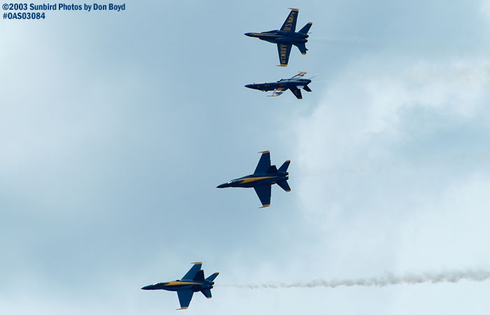 USN Blue Angels F/A-18 Hornets military aviation air show stock photo #6929