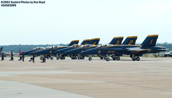 USN Blue Angels F/A-18 Hornets military aviation air show stock photo #6941