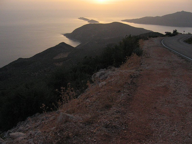 Returning from Kas to Kalkan. The usual lost horizon of that area.