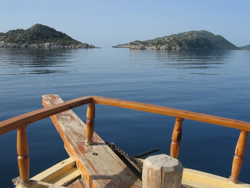Islands from the front of boat