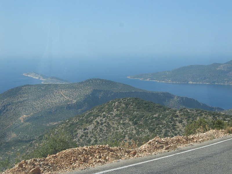 Via the now familiar Kas coastal route, on the way to Antalya this time