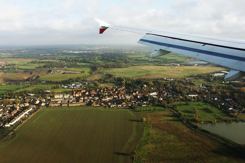 The approach to Heathrow, UK