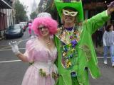 Maskers on Fat Tuesday