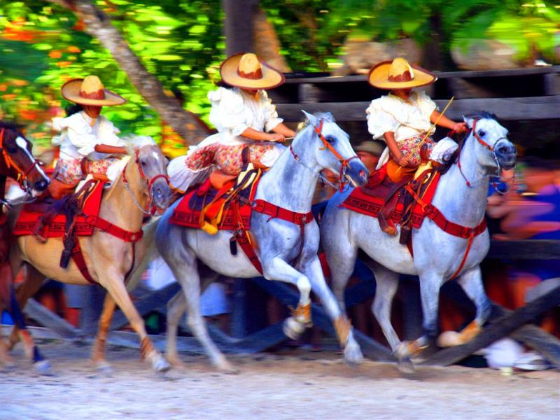 Horse Show in Xcaret