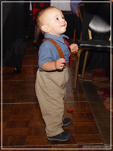 Doin a little dance at my cousins wedding