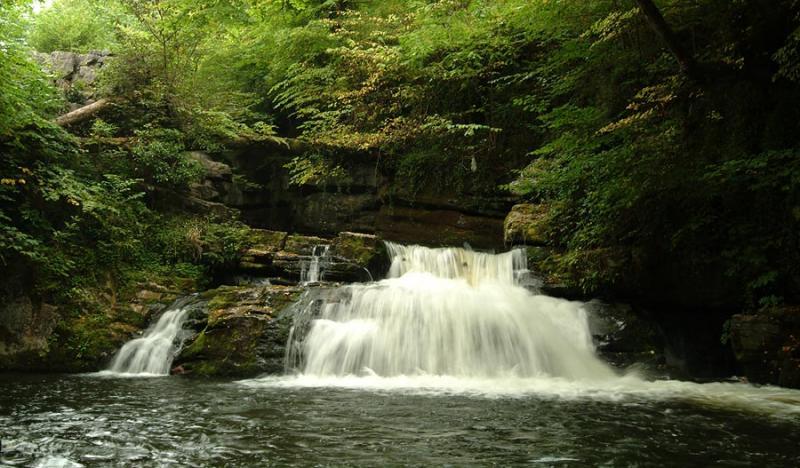 Falls on the Afon Taf Fechan