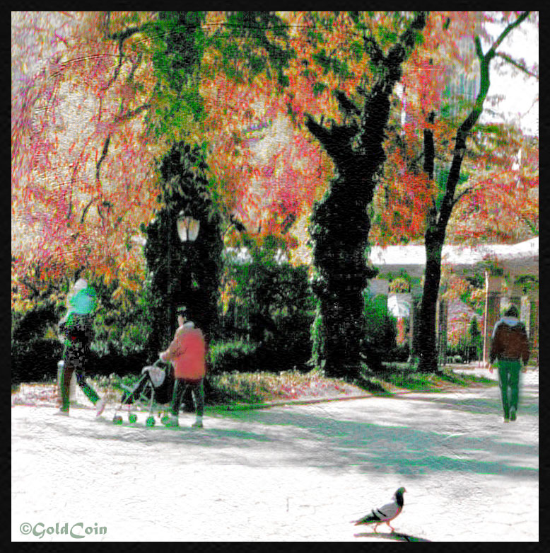 A Stroll in New York Park::Mikes latest Watercolor Action