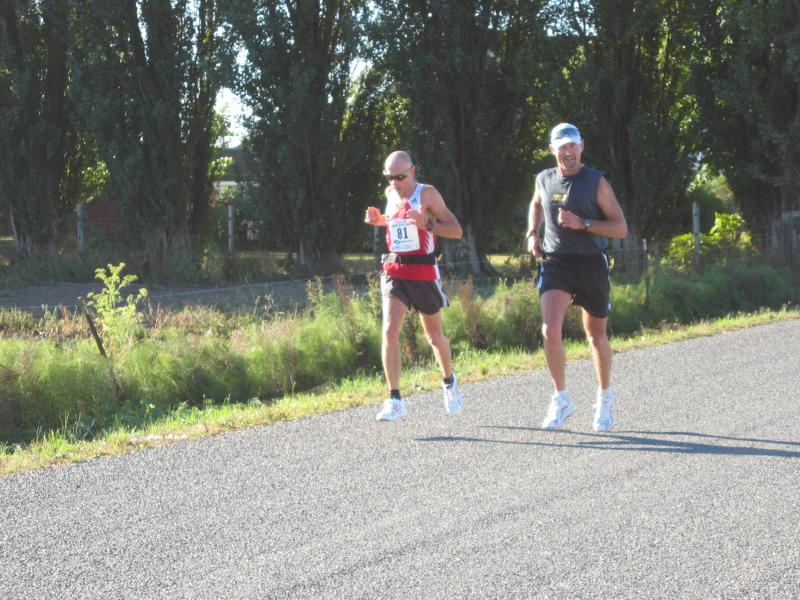 Marathon leader going out<br>Bill Hawke paced by brother Ferg</br>