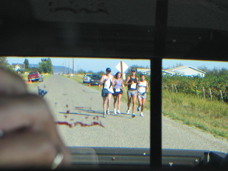 Rear view mirror shot