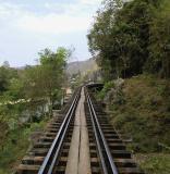 Tracks running north