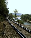 Tracks running south