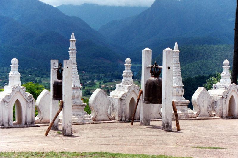 Mountain Wat overlooking Myanmar, Mae Hong Son