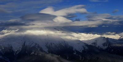 Layered Lenticular Clouds, View NW (BakerCloudcap1b.jpg)