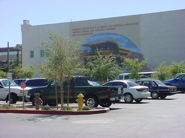 rock and mineral museum back wall and my green truck club