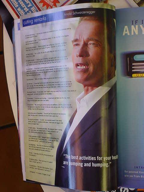 Arnold Schwarzenegger at Bills barber shop in Mesa Arizona