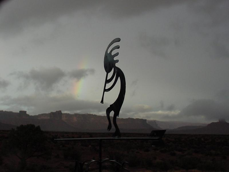 Valley of the Gods B&B rainbow view