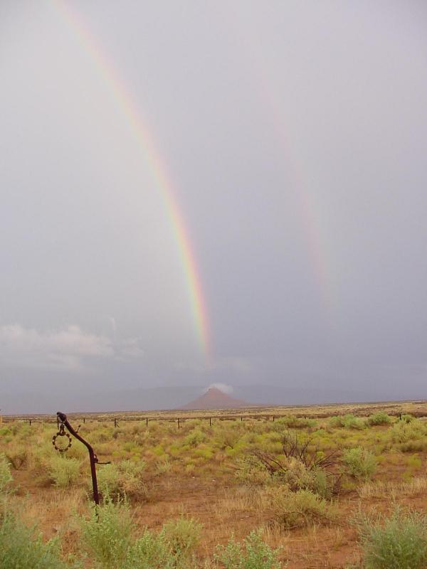 Valley of the Gods B&B rainbow view