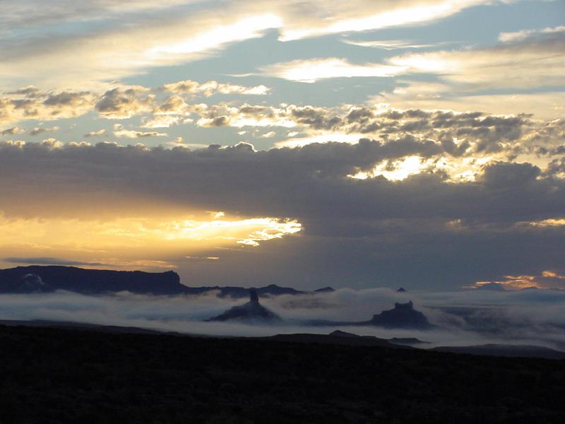 Morning Fog in Valley of the Gods