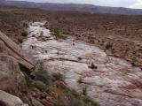 Flash flooding near Mexican Hat, Utah.