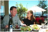 Mike and Sandra Enjoy Lunch at Days Bay