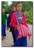 Silver Palaung Boys - walking home from school