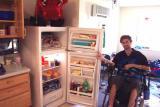Jake's fridge, after Terri shopped.