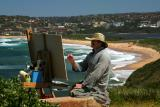 Painter at Long Reef Beach