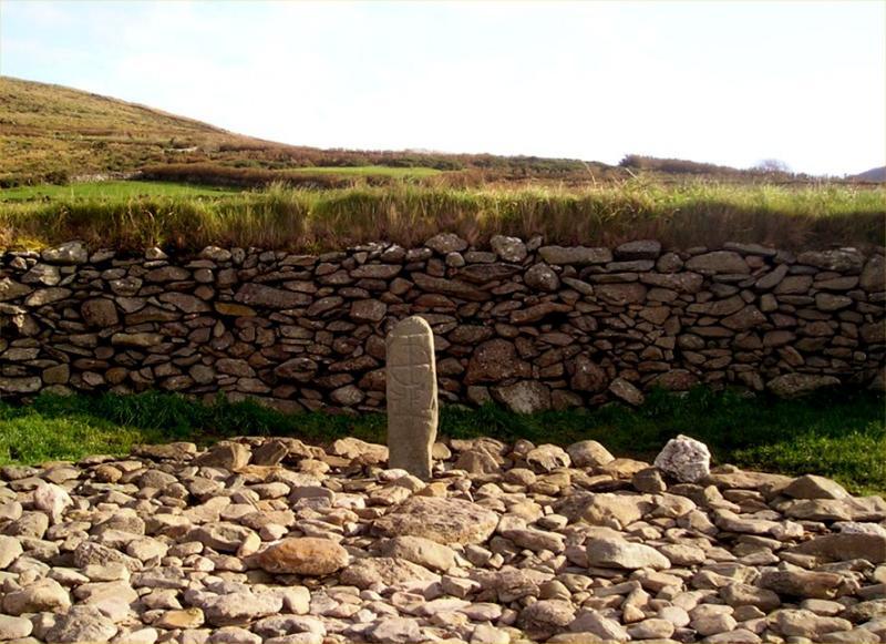 Ancient marking stone at Gallerus