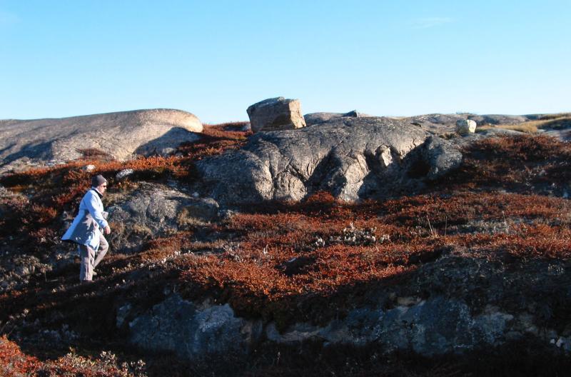 Kate Walking in Greenland