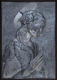 Virgin of the rocks Filippo Lippi, replica, aluminum 66x45.5cm