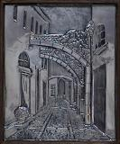 The narrow streetaluminum 25x20.5cm.