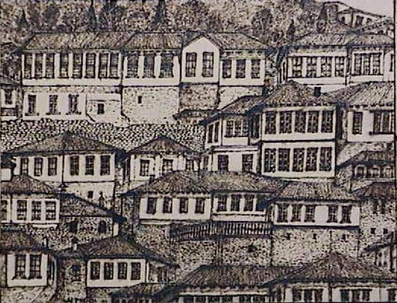 Berati- The windows citty- (wood)39x30 cm.