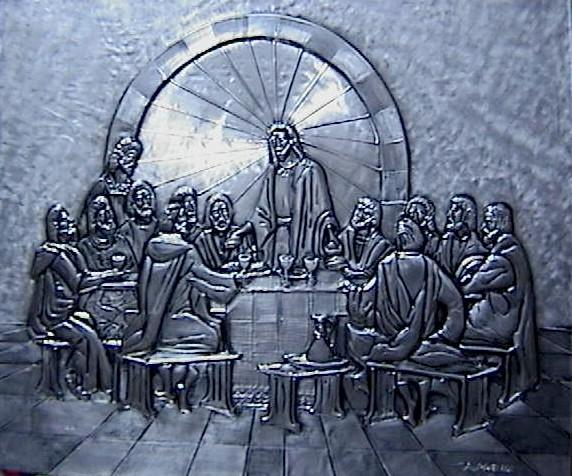 The Last Supper classic,aluminum 43x35cm.