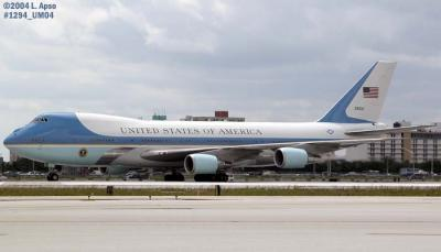 USAF VC-25A #92-9000 (29000) Air Force One with President George W. Bush onboard aviation photo #1294