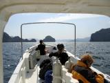 The dive boat headed for Abu Sir Island