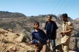 3 local boys near Al-Hajjarah
